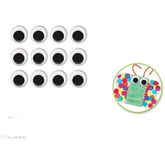 Googly Eyes 1.1in Black, 12/pk