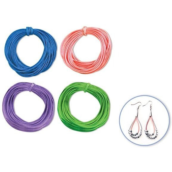 Jewelry/Craft Cord 1mmx8yds Leatherette Round - Pastel, 4/pk