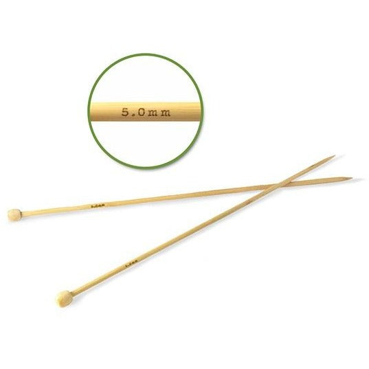 #8 (5mm) Bamboo Knitting Needles 35cm