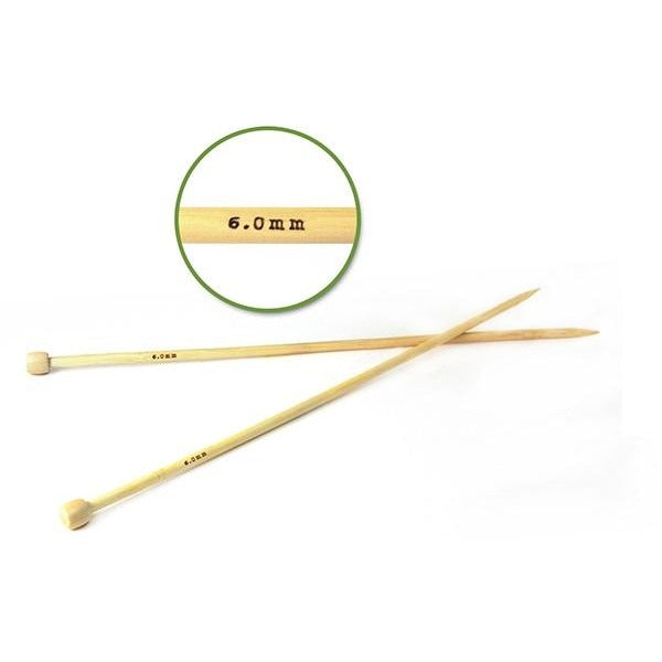 #10 (6mm) Bamboo Knitting Needles 35cm