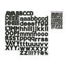 "Scrapbook Stickers: 1 3/16"" Alpha x 126 (2sht) - Black"
