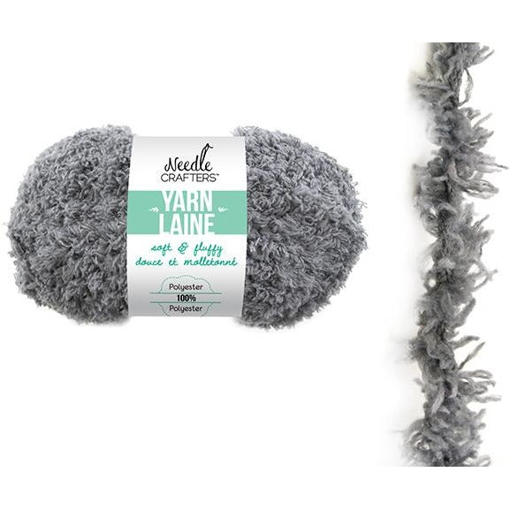 Soft and Fluffy Yarn - Grey, 50g
