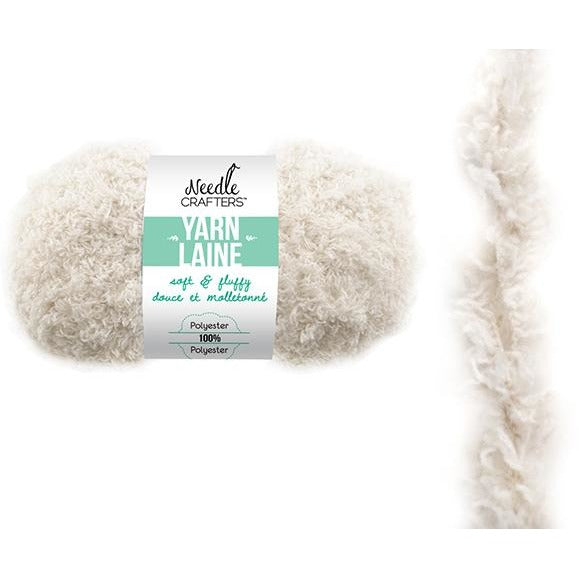Soft and Fluffy Yarn - White, 50g