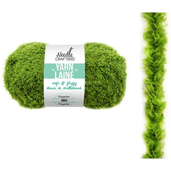 Soft and Fluffy Yarn - Moss Green, 50g