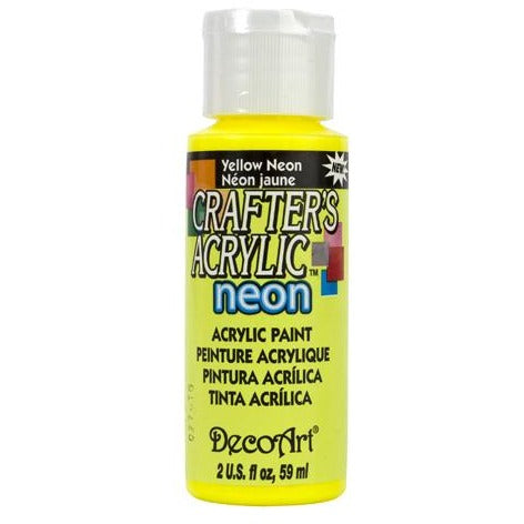 Crafter's Acrylic All-Purpose Paint - Yellow Neon