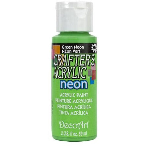 Crafter's Acrylic All-Purpose Paint - Green Neon