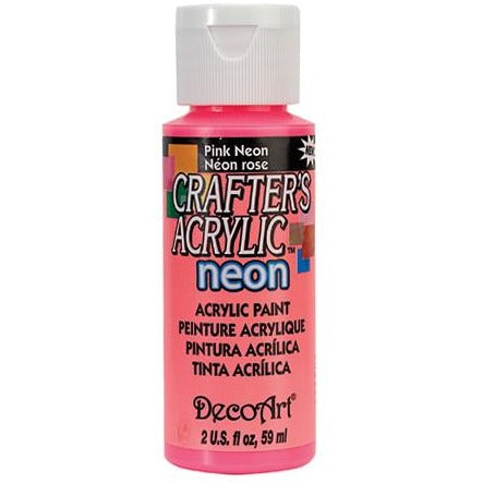 Crafter's Acrylic All-Purpose Paint - Pink Neon
