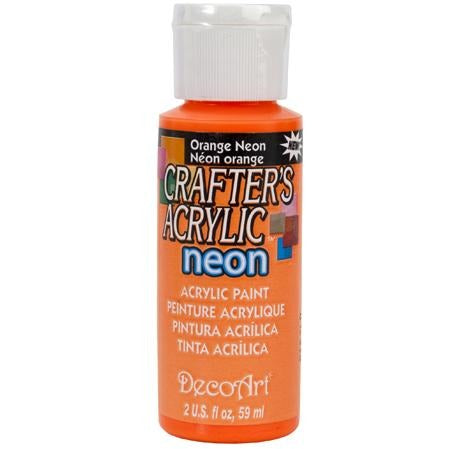Crafter's Acrylic All-Purpose Paint - Orange Neon