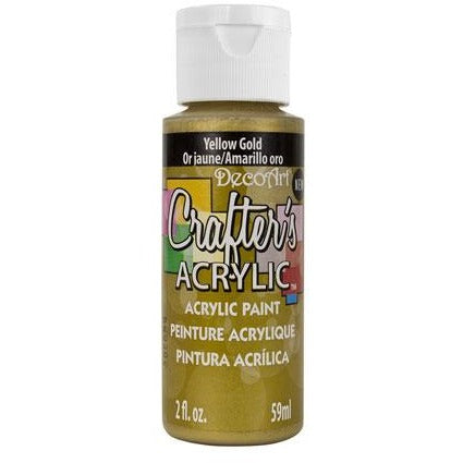 Crafter's Acrylic All-Purpose Paint - Yellow Gold