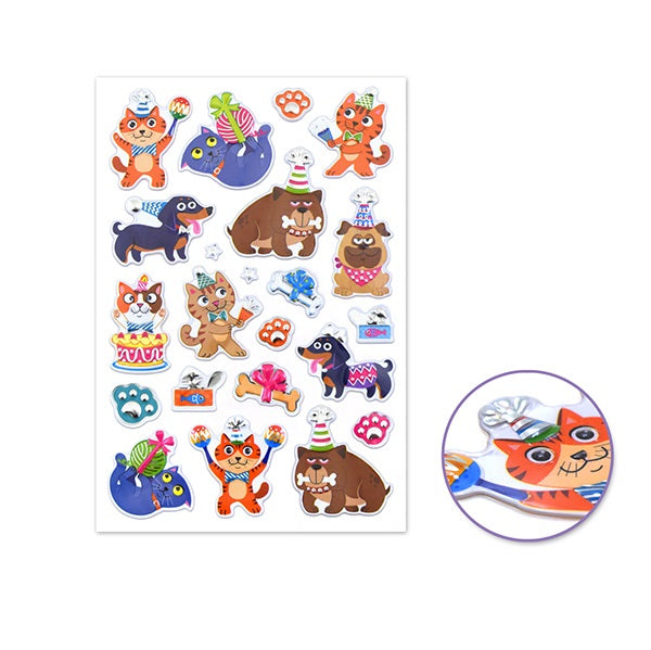 Foil Fun Craft Stickers - Cats & Dogs