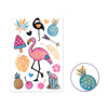 Foil Accents Clear Stickers - Flamingo Love