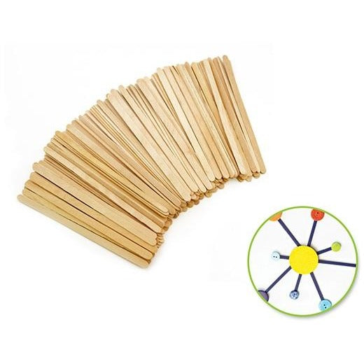 "Wood Craft Stir Sticks 4.3""x 0.2"" Natural, 120/pk"