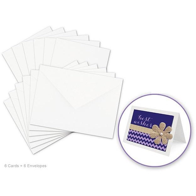 Card Making sets - White, 6 sets/pack