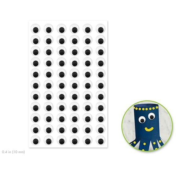 Self-Adhesive Googly Eyes 0.4in Black, 66/pk