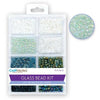 Glass Bead Kit: Rocailles/Seed Beads/Bugles - Black and White, 45g/pack