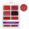 Glass Bead Kit: Rocailles/Seed Beads/Bugles - Rouge, 45g/pack
