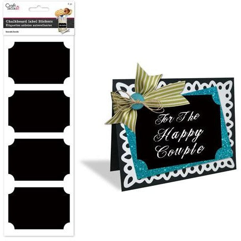 Chalkboard Storage Label Sticker - Plain 4/pk
