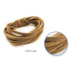 Jewelry/Craft Cord 100% Suede 3mm Flat x2m - Natural
