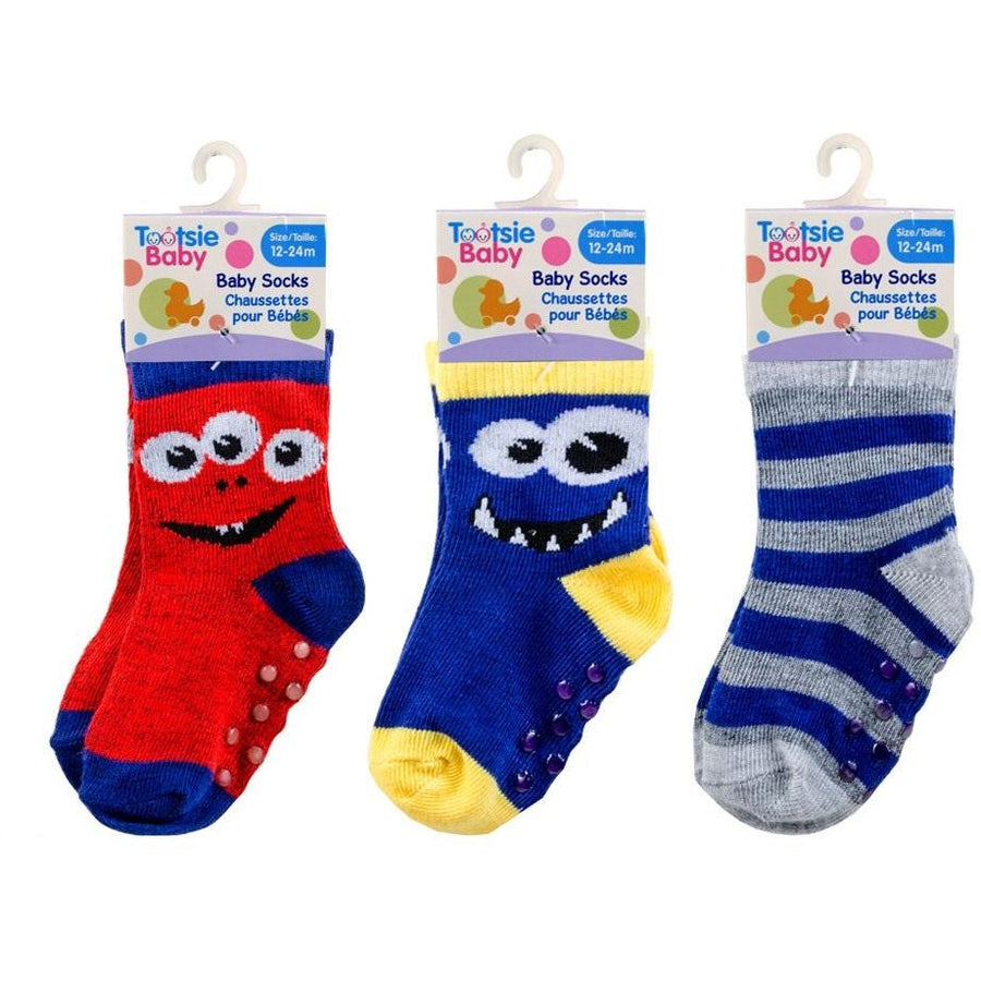 Non-skid Baby Boy Socks 12-24m