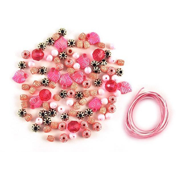 Luxe Bead Kit: 30g Luxe Kit with Spacers & Cording - Pink