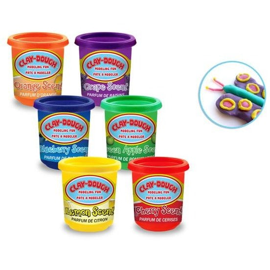 Fruit Scented Clay Dough 5oz with Tubs 6-Colours