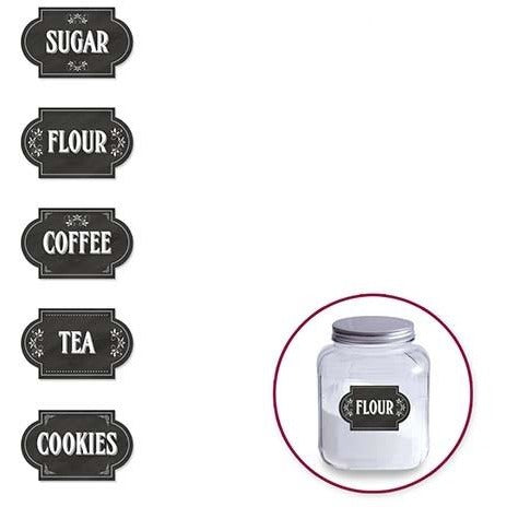 Chalkboard Storage Label Sticker - Canisters 5/pk