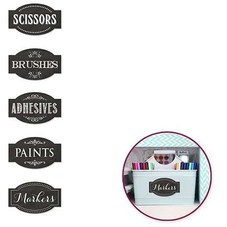 Chalkboard Storage Label Sticker - Arts & Crafts 5/pk