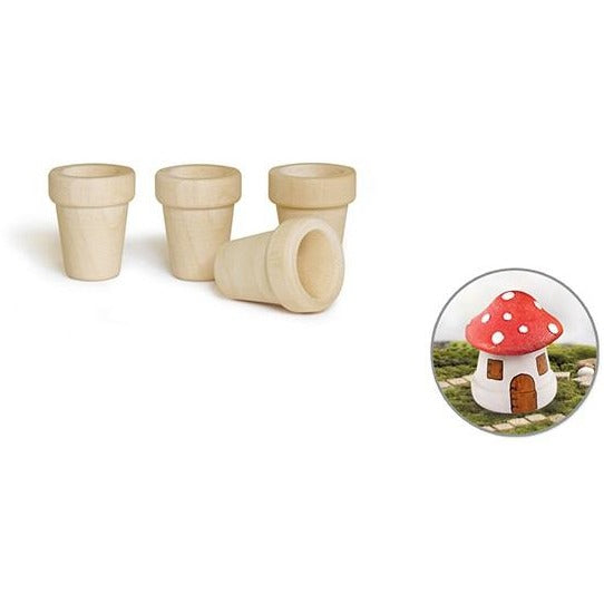 "Mini Flower Pots 1""x1.2"", 4/pk"
