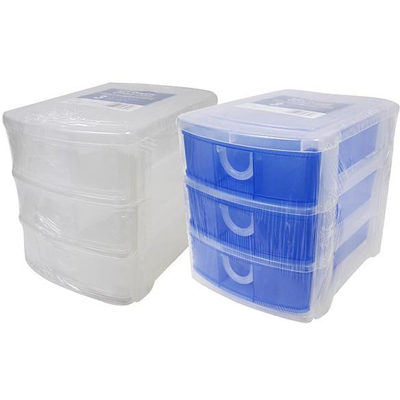 Mini Plastic Storage Drawer - 3 Layers