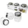 Glass Jars with Window Lids, 3/pk