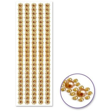 Jewel Borders - Gold Pearl Floral
