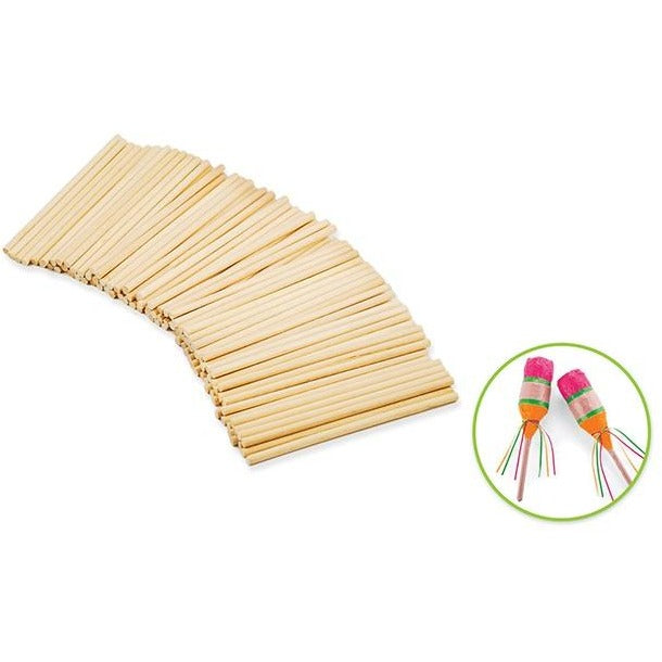 "Wood Craft Dowels 4""x 0.125"" Natural, 100/pk"