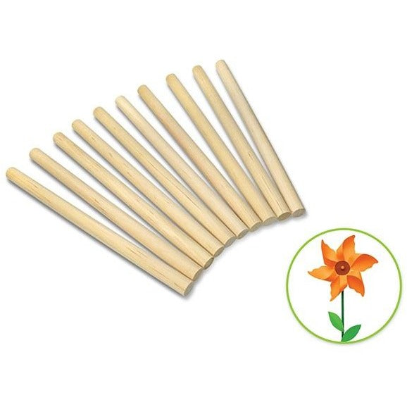 "Wood Craft Dowels 6""x 0.4"" Natural, 10/pk"