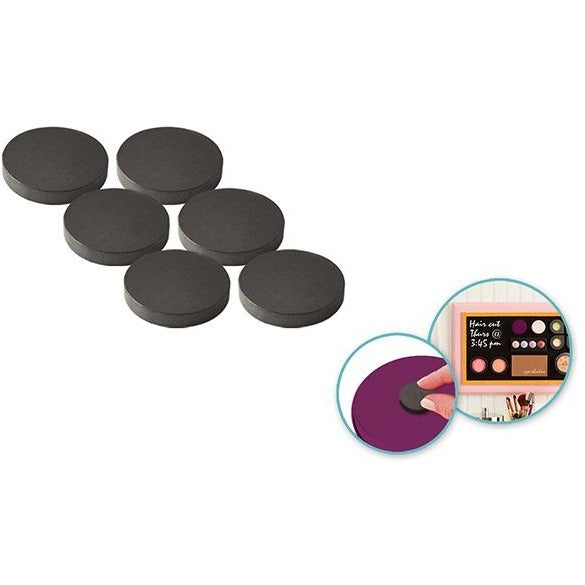 "1"" Magnetic Buttons 6/pk"