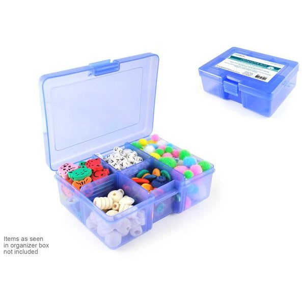"Organizer Box with Snap Lid 6.5""x4.75""x2.25"", 1-6 Compartments customizable"
