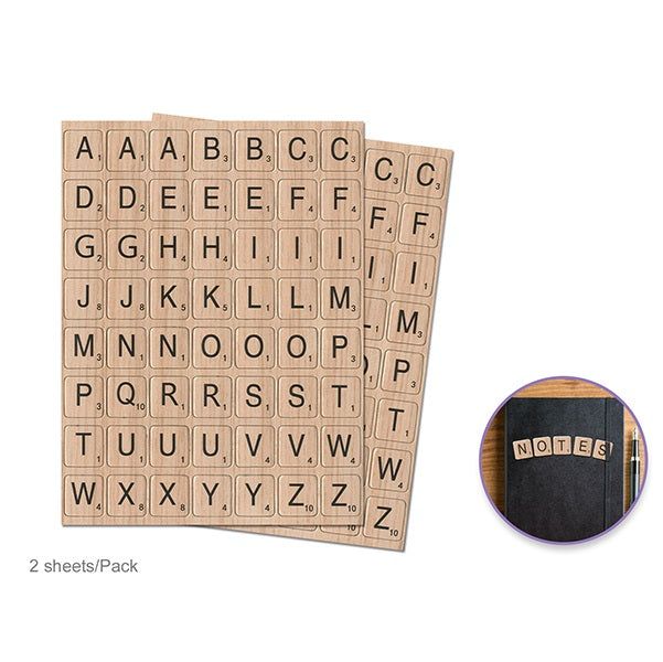 Chipboard Letters - 2 sheets