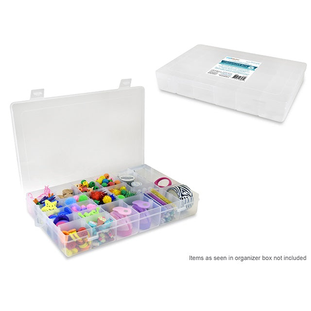 "Organizer Box with Snap Lid 36 Compartments-10.8""x7""x1.75"""