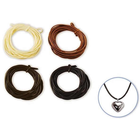 Jewelry/Craft Cord 1mmx8yds Leatherette Round - Natural, 4/pk