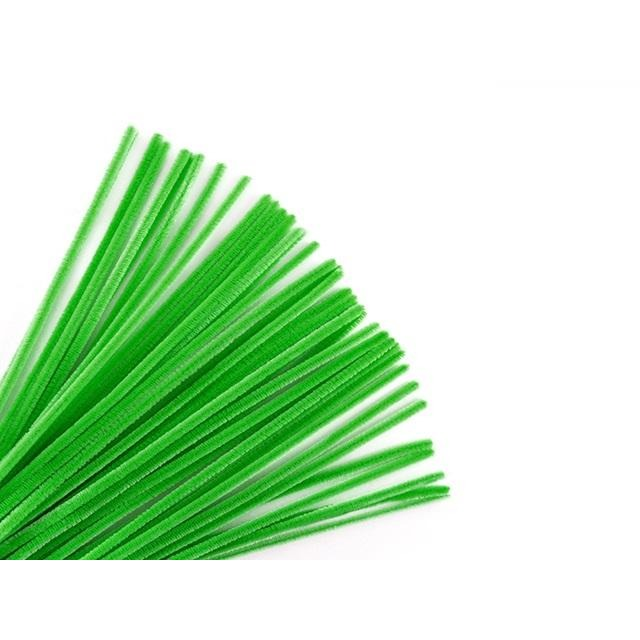 "Chenille Stems Pipe Cleaner 12"" Kelly Green, 40/pk"