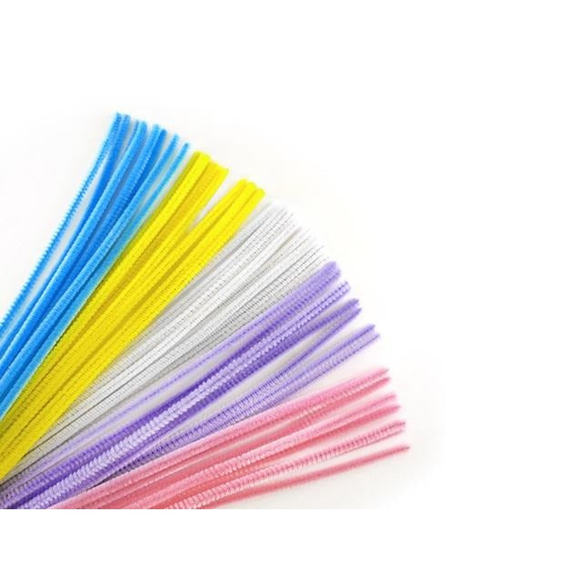 "Chenille Stems Pipe Cleaner 12"" Pastel Mix, 40/pk"