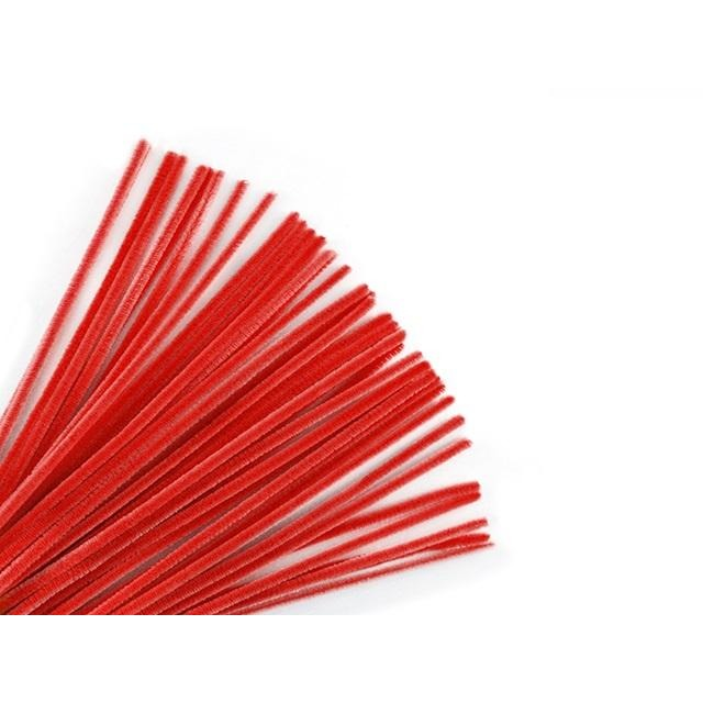 "Chenille Stems Pipe Cleaner 12"" Red, 40/pk"
