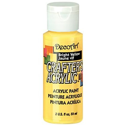 Crafter's Acrylic All-Purpose Paint - Bright Yellow
