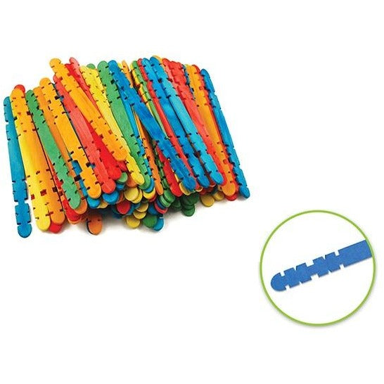 "Wood Craft Skill Sticks 4.5""x 0.4"" Coloured, 80/pk"