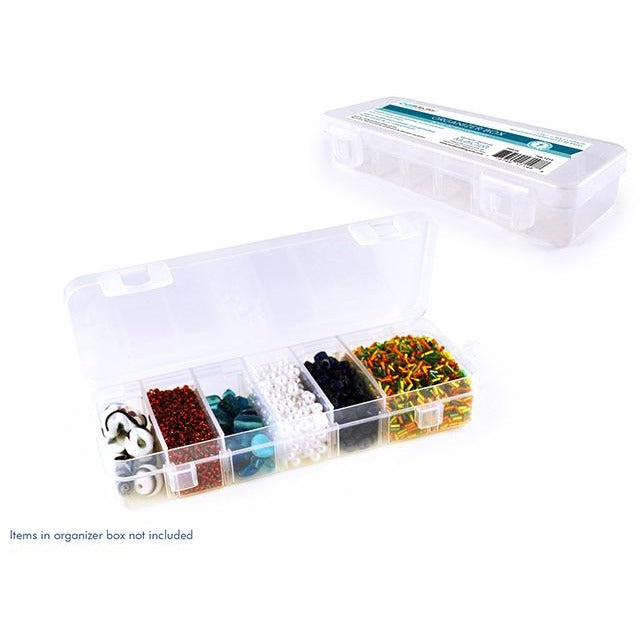 "Organizer Box with Snap Lid 6.75""x2.25""x1.19"", 1-7 Compartments customizable"