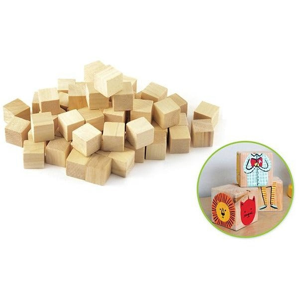 Wood Craft Cubes 0.63inx0.63inx0.63in Natural, 36/pk