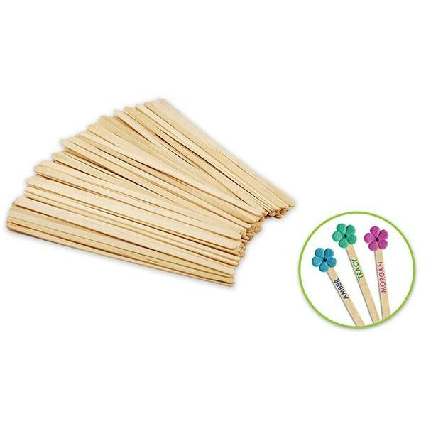"Wood Craft Stir Sticks 7.5""x 0.25"" Natural, 80/pk"