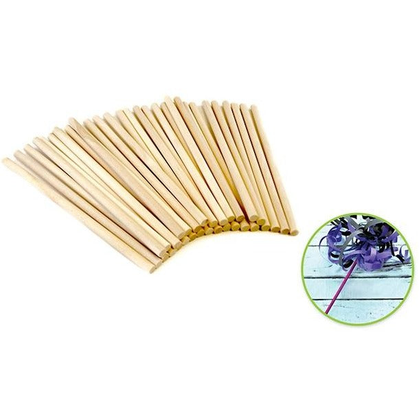 "Wood Craft Dowels 6""x 0.25"" Natural, 30/pk"
