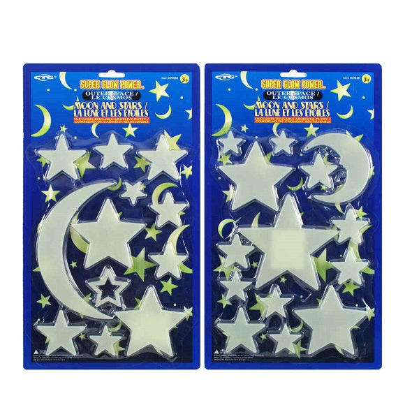 Large Super Glow Moon/Star Set
