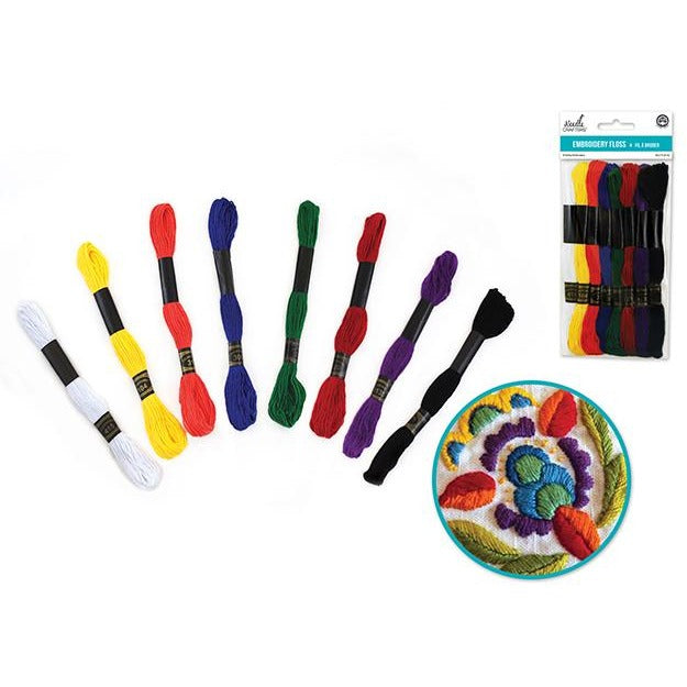 Cotton Embroidery Floss  64m - Basics Asst, 8 Hanks/pk
