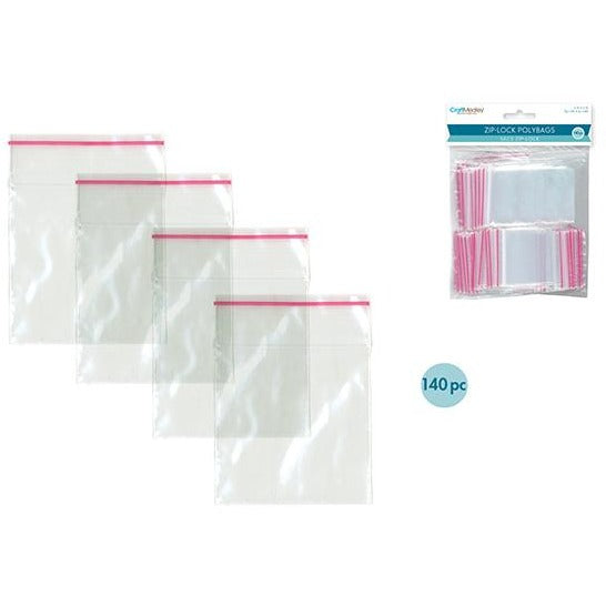 "Zip-Lock Polybags, 2""x2"", 140/pk"